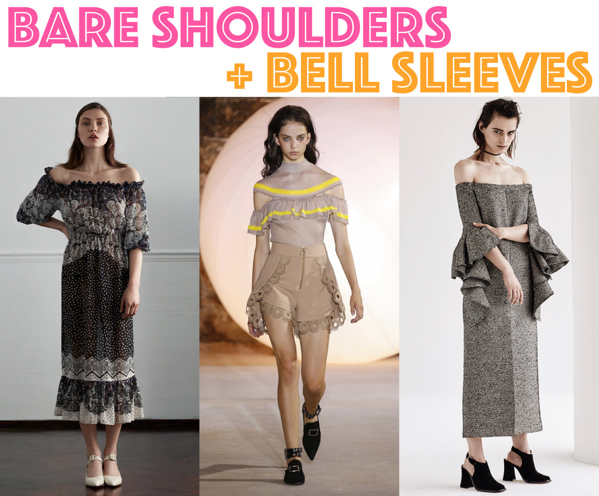 BARE SHOULDERS AND BELL SLEEVES: SHOP THE AUSTRALIAN MADE SPRING TRENDS