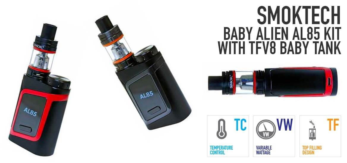 SMOKtech Baby Alien AL85 Kit with TFV8 Baby Tank