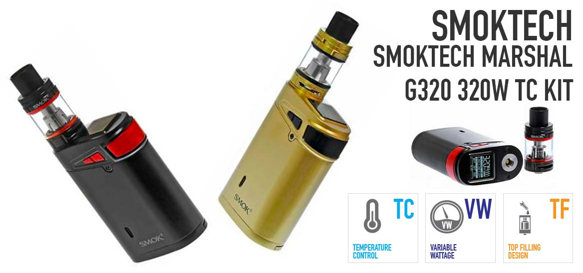 SMOKTech Marshal G320 320W TC kit with TFV8 Big Baby Beast