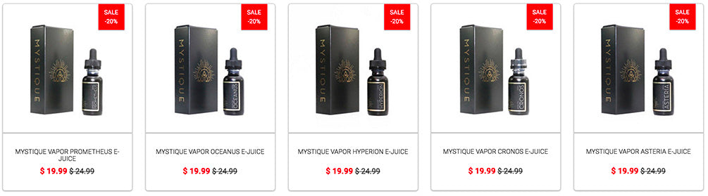 Free Bottle of Mystique Vapor E-Juice