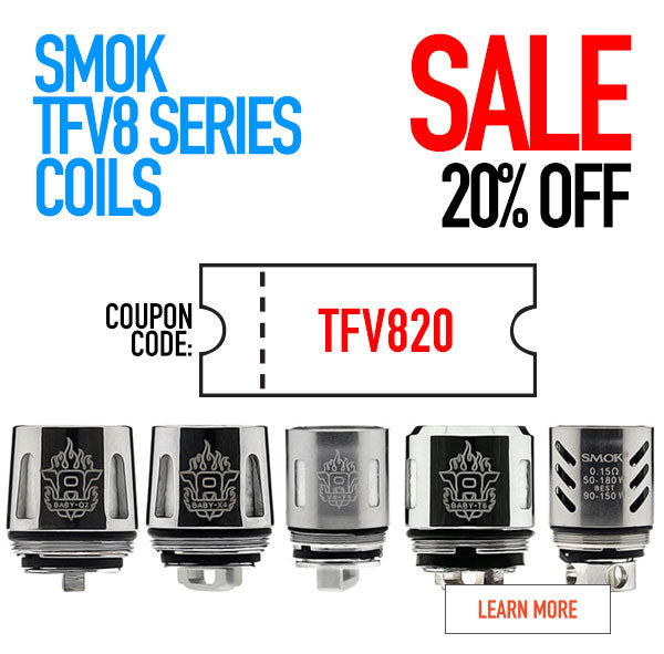 SMOK TFV8 Series Coil Head Coupon Code