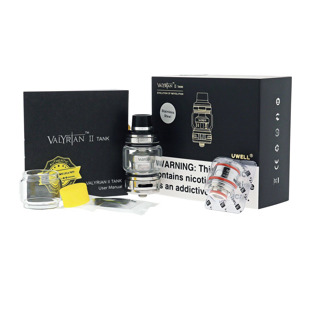 Uwell Valyrian II Sub-Ohm Tank - Package Contents