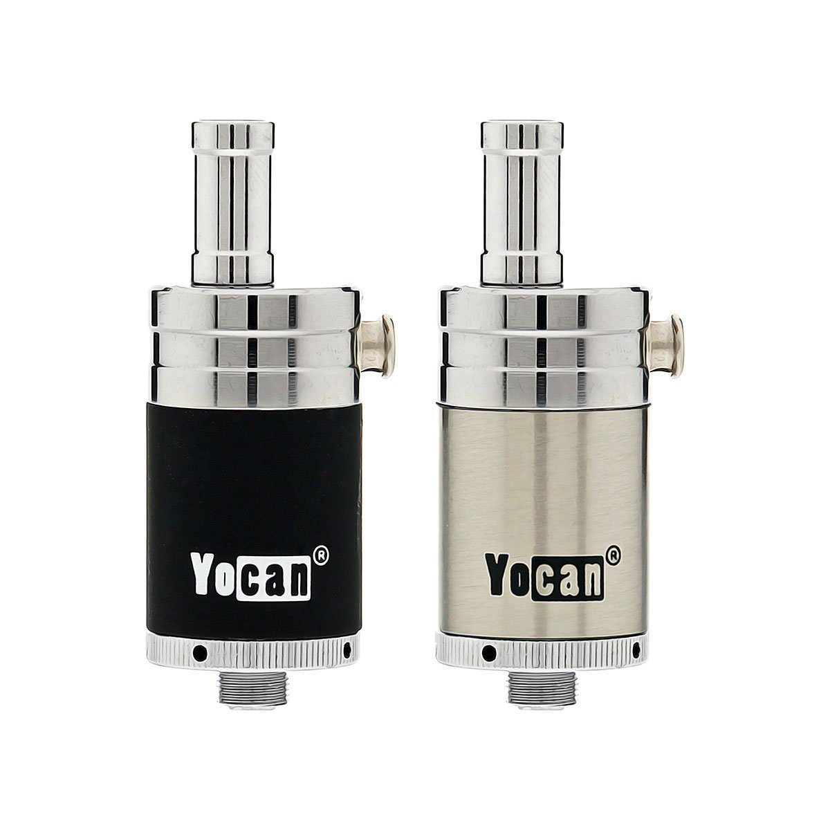 Yocan NYX Wax Tank Overview From the wax vaping specialists at Yocan comes The Yocan NYX Wax Tank. This Stainless Steel atomizer is made specifically for wax concentrates and was engineered with a threaded 510 connection. This connection makes it compatible with your favorite low wattage box mods as the suggested wattage for this tank is between 15 and 25W. Even at these suggested lower wattages, this tank provides substantial vapor production. In utilizing QDC technology, the Yocan NYX Wax Tank