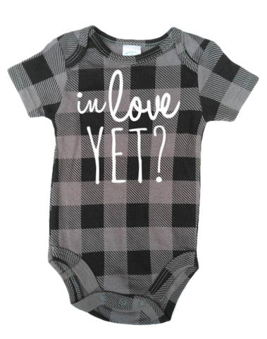"""In Love Yet?"" Hipster Onesie"