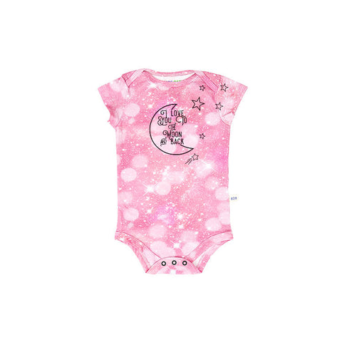 I Love You to the Moon and Back Short Sleeve Onesie (Girls)
