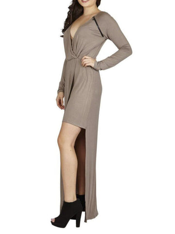 "DeeDee II ""Nursing"" Zipper Wrap Maxi Dress"