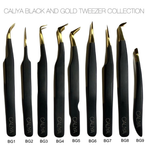 Black and Gold Tweezer Collection | 10% off when you buy the entire collection | Caliya Brand