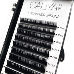 Faux Silk Eyelash Extensions | Mixed (6-12mm) | C Curl | 0.07