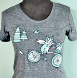 Grey Bike T-shirt by Susie Ghahremani / boygirlparty.com