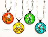 Glass Bicycle Necklace by Susie Ghahremani / boygirlparty.com