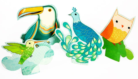 Birds of a Feather Notecards (Set of 16) by Susie Ghahremani / boygirlparty.com