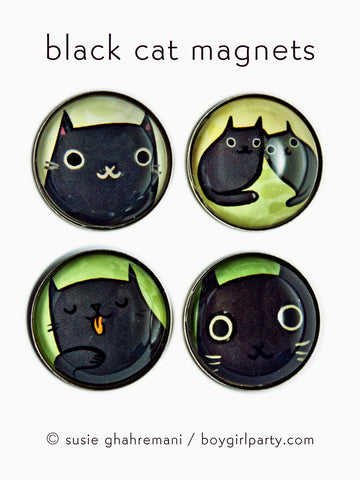Black Cat Magnets by Susie Ghahremani / boygirlparty.com