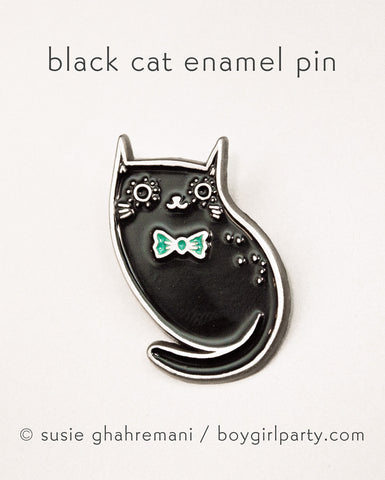 Black Cat Pin by Susie Ghahremani / boygirlparty.com