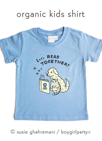 Let's Read Together Kids T-shirt Toddler T-shirt / Kids' Book T-Shirt