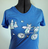 Blue Bicycle T-shirt by Susie Ghahremani / boygirlparty.com