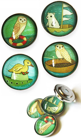 Boat Animals Magnet Set by Susie Ghahremani / boygirlparty.com