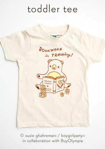 Bookworm Kids T-shirt Toddler T-shirt / Kids' Book T-Shirt