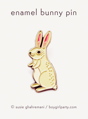 Brass Bunny Pin by Susie Ghahremani / boygirlparty.com