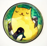 Large Cat / Penguins Magnet by Susie Ghahremani / boygirlparty.com