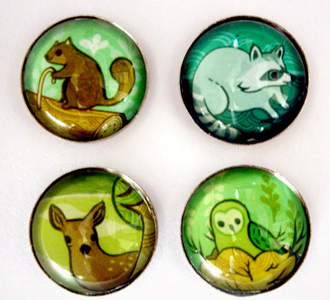 Forest Animals Magnet Set by Susie Ghahremani / boygirlparty.com