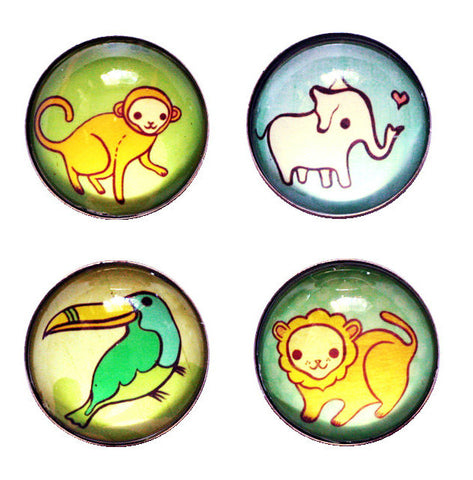 Jungle Animal Magnets by Susie Ghahremani / boygirlparty.com