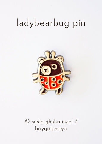 LadyBearBug Enamel Pin by boygirlparty - Tiny Ladybug Bear Pin
