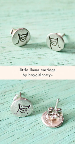 Llama Earrings (Sterling Silver) by Susie Ghahremani / boygirlparty.com