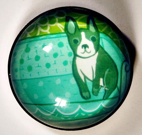 Boston Terrier Magnet by Susie Ghahremani / boygirlparty.com