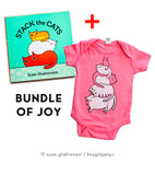 Stack the Cats Book and Onesie combination! at http://shop.boygirlparty.com