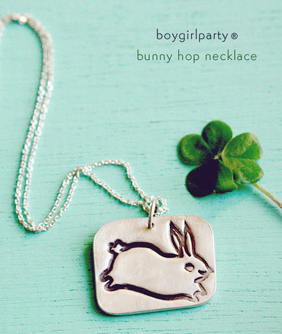 Sale: Silver Bunny Necklace