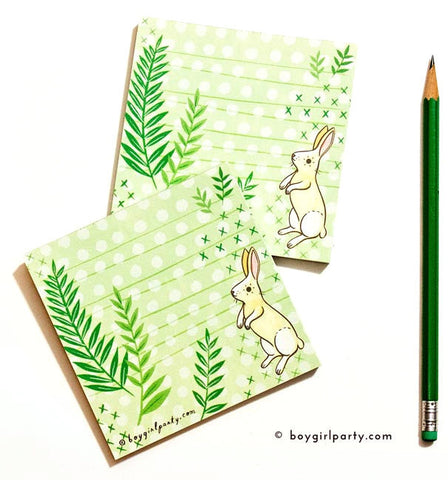 Bunny Notepad by Susie Ghahremani / boygirlparty.com