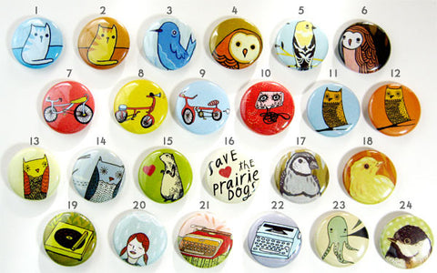 Mix and Match Buttons (set of 4) by Susie Ghahremani / boygirlparty.com