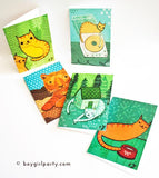 Cat Notecards (Set of 5) by Susie Ghahremani / boygirlparty.com