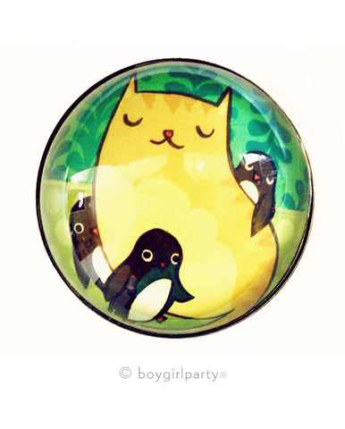 Cat Penguins Magnet by Susie Ghahremani / boygirlparty.com