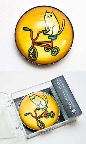 Cat Bike Magnet by Susie Ghahremani / boygirlparty.com