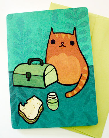 Birthday Sandwich Cat Card by Susie Ghahremani / boygirlparty.com