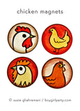 Chicken Magnets by Susie Ghahremani / boygirlparty.com - Backyard Chicken Gift