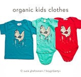 Chicken Kids T-shirt Toddler T-shirt, Organic Kids Tee at boygirlparty.com
