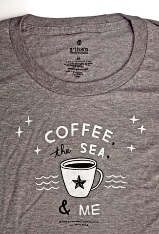 Coffee, The Sea & Me Ladies graphic T-shirt
