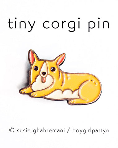 Corgi Pin Corgi Enamel Lapel Pin Dog Pin by boygirlparty by boygirlparty / Susie Ghahremani http://shop.boygirlparty.com