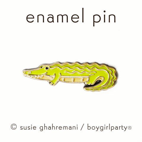 Crocodile Enamel Pin -- Alligator Lapel Pin by boygirlparty