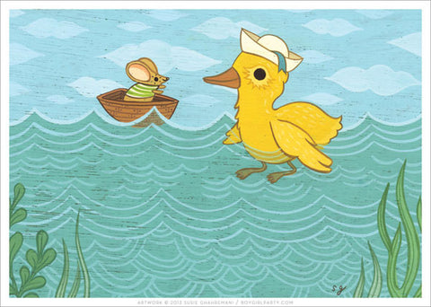 Duck and Mouse Print by Susie Ghahremani / boygirlparty.com