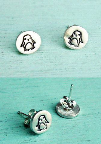 Penguin Earrings (Sterling Silver) by Susie Ghahremani / boygirlparty.com