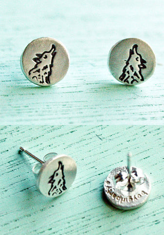 Silver Wolf Earrings by Susie Ghahremani / boygirlparty.com
