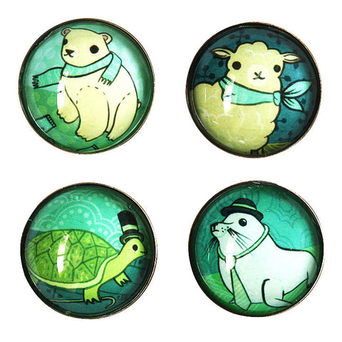 Fancy Animals Magnet Set by Susie Ghahremani / boygirlparty.com