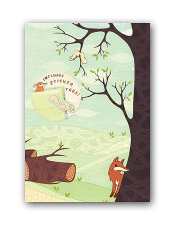 Forest Animals Journal (Fox Journal with Sticker Tabs) by Susie Ghahremani / boygirlparty.com