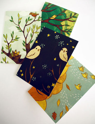 Four Seasons Card Set by Susie Ghahremani / boygirlparty.com