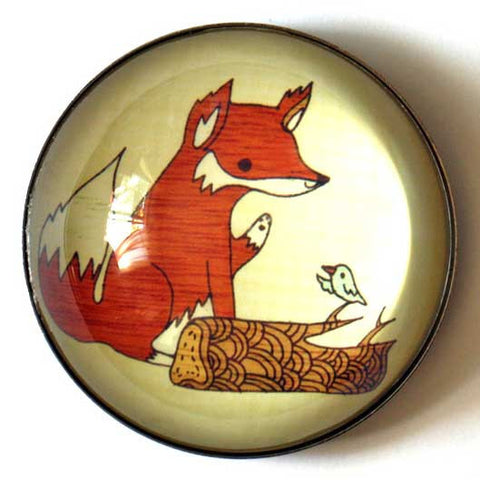 Fox and Bird Magnet by Susie Ghahremani / boygirlparty.com