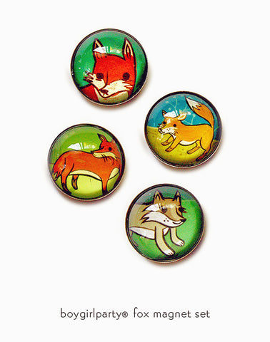 Fox Magnet Set by Susie Ghahremani / boygirlparty.com
