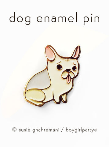 French Bulldog Pin - Frenchie Enamel Pin - Dog Enamel Pin by boygirlparty from shop.boygirlparty.com